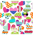 Heart patches vector