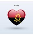 Love angola symbol heart flag icon vector