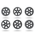 Gear wheel icons vector
