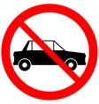 No parking sign icon vector