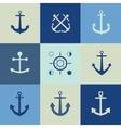 Anchor icon flat vector