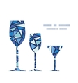 Abstract ice chrystals three wine glasses vector