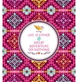 Hipster seamless tribal pattern with geometric vector
