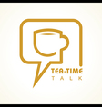 Tea-time chat concept stock vector