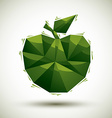Green apple geometric icon made in 3d modern style vector