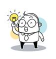 Business man hold bulb vector