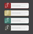 Color banner four step vector