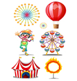 A carnival with clown vector