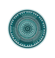 Round ornament mandala pattern over white vector