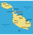 Republic of malta - map vector
