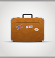 Travel bag icon vector