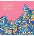 Abstract floral template for card vector