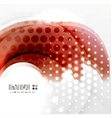 Red wave abstraction vector