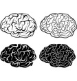 Brains and electronic brains vector
