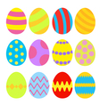 Easter eggs colorful set isolated vector