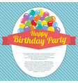 Happy birthday party card vector