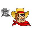 Angry cowboy vector