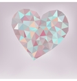 Retro heart made from color triangles  eps8 vector