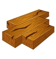 Icons of wood on isolated background vector
