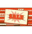 Vintage sale sign vector