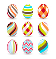 Easter eggs happy easter vector