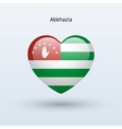 Love abkhazia symbol heart flag icon vector