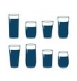 Set of water glass vector