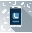 Smartphone call and sends message vector