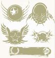 Grunge banners set vector