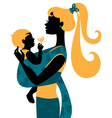 Mother silhouette with baby vector