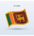 Sri lanka flag waving form vector