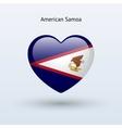 Love american samoa symbol heart flag icon vector