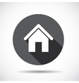 Home flat icon with long shadow vector