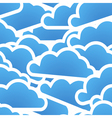 Group of blue clouds seamless background vector