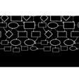 Blackboard chalk mind map horizontal seamless vector