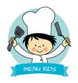 Little chef boy vector