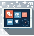 E-business concept computers smartphone vector