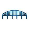 Arch bridge structure logo vector