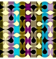 Abstract geometric pattern on plaid background vector