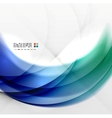 Abstract blue swirl design vector