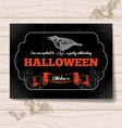 Hand drawn vintage halloween invitation vector