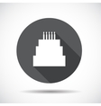 Cake flat icon with long shadow vector