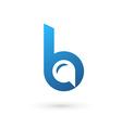Letter b speech bubble logo icon design template vector