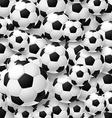 Pattern made of football soccer ball vector