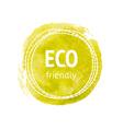 Hand drawn watercolor eco label vector
