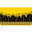 Yellow backdrop for city taxi vector