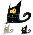 Black cat cartoon vector