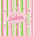 Cake label doodle design vector