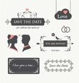 Wedding invitation design element editable vector