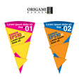 Abstract colorful triangle banner eps10 vector